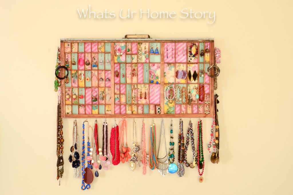 Great way to display and store your jewelry -Printer's Tray Jewelry Holder