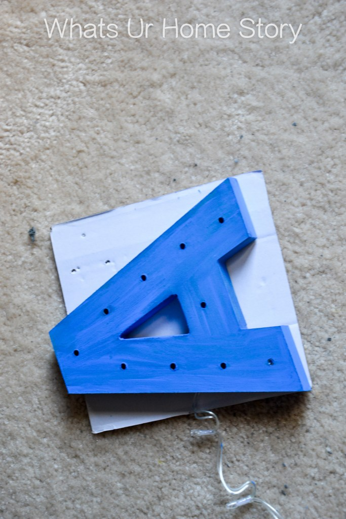 glitter marquee letter diy