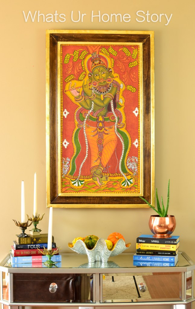 My mom 39 s krishna mural painting a diy frame whats ur for Diy mural painting