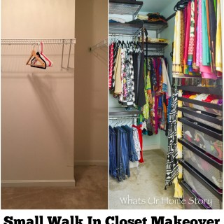 Small Walk In Closet Makeover
