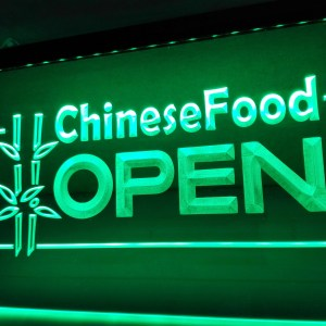 Chinese Food Open neon light sign
