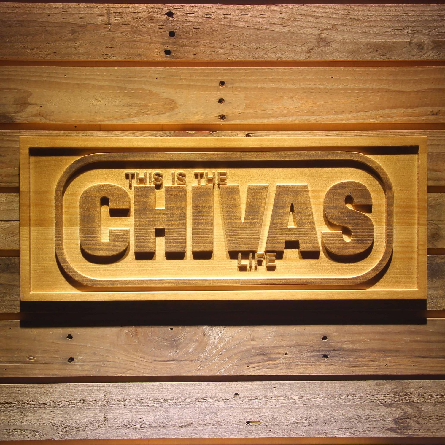 Chivas Regal Life Wood Sign Neon Sign Led Sign Shop What S Your Sign