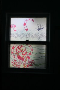 How to frost a window with contact paper  DIY Home Decor ...