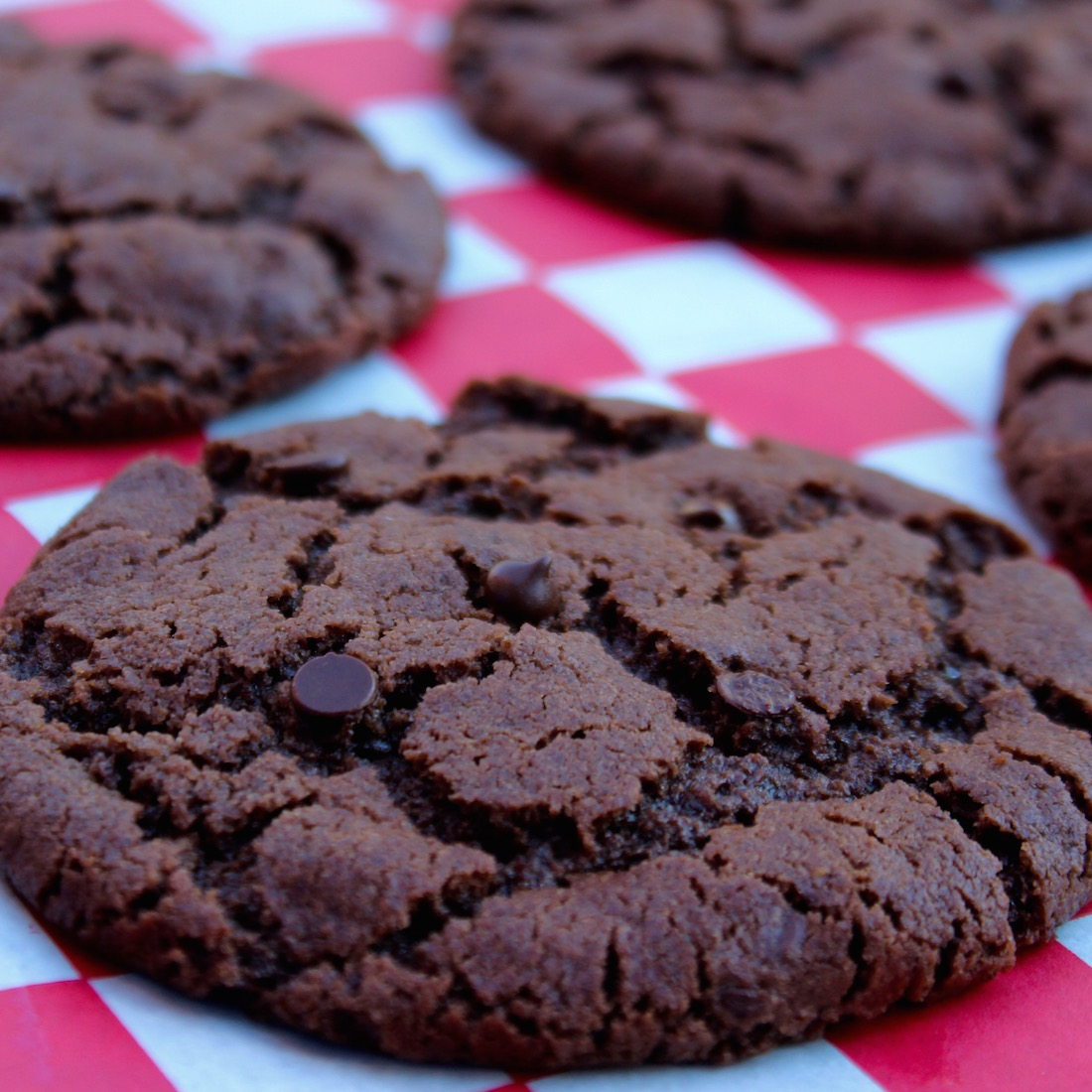 Chocolate With White Choc Chip Cookies