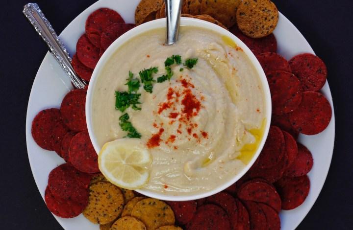 Garlic Sesame Red Lentil Hummus