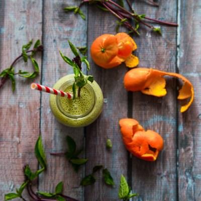 Basil Mandarin orange smoothie
