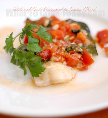 FILLET OF SOLE WRAPPED IN SWISS CHARD/ PAZI YAPRAGINDA DIL BALIGI