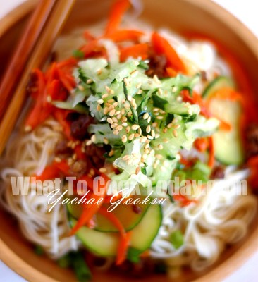 VEGETABLE MIXED NOODLES/YACHAE GOOKSU