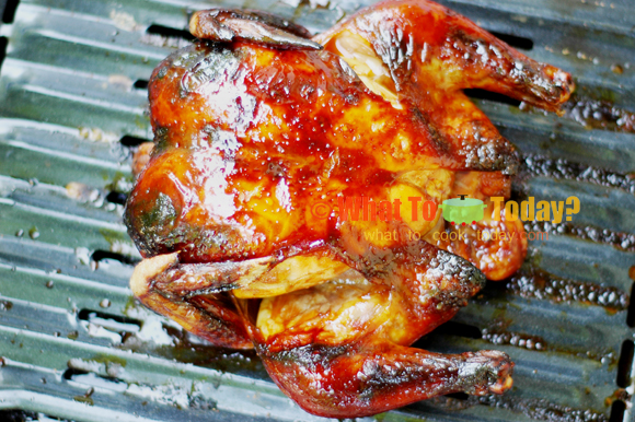 HULI-HULI ROASTED CHICKEN WITH LIME-HONEY GLAZE
