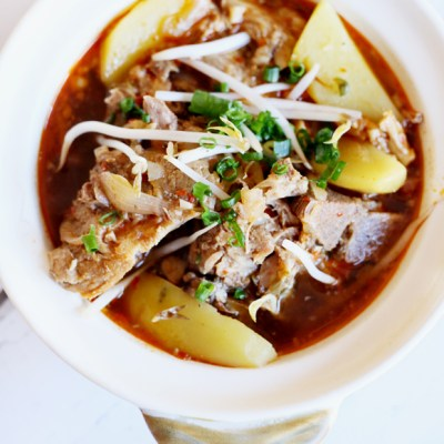 KOREAN PORK BONE SOUP / GAMJATANG
