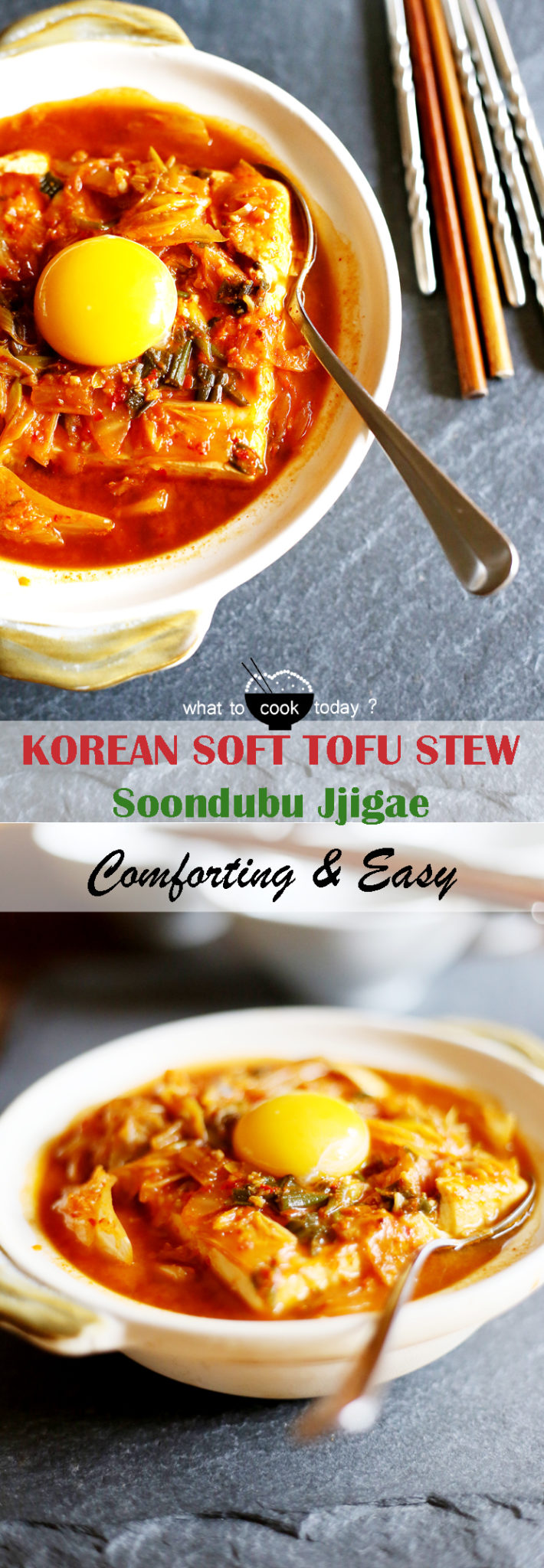 is coming and this Soondubu jjigae (Korean soft tofu with kimchi stew ...