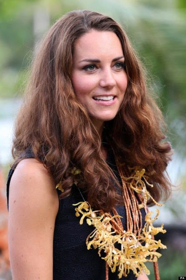 "One of the extremely rare ""bad hair days"" of Kate, in the Solomon Islands in 2012"