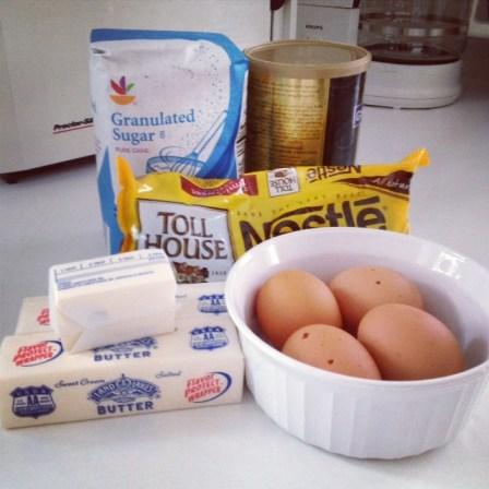 Mary Berry Brownie ingredients