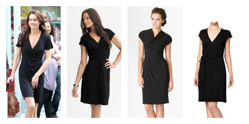 Wardrobe Wednesday: Kate&-39-s Black Issa Wrap Dress