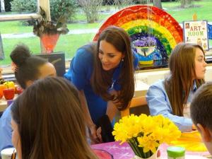 Kate opens The ICAP Art Room at Northolt High School