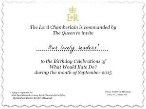 A Right Royal Birthday!