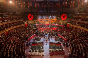 The Duke and Duchess of Cambridge Join Members of the Royal Family for the Festival of Remembrance at Royal Albert Hall