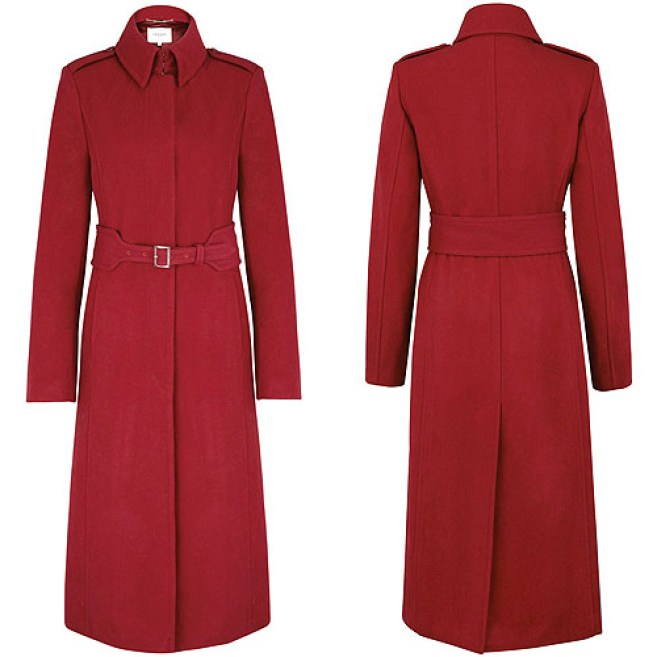 LK Bennett Ami Red coat as seen on the Duchess of Cambridge