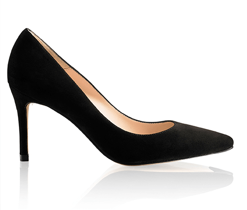Russell & Bromley Pinpoint Black Heels