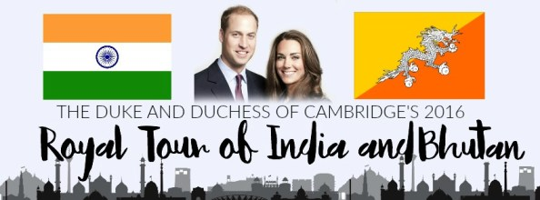 Duke and Duchess of Cambridge 2016 Royal Tour India and Bhutan