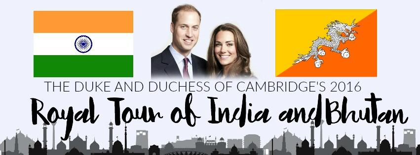 Duke and Duchess of Cambridge 2016 Royal Tour India and Bhutan