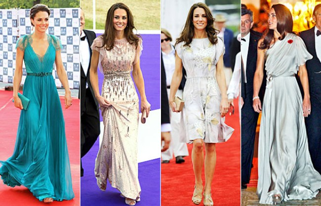 Duchess of Cambridge in Jenny Packham