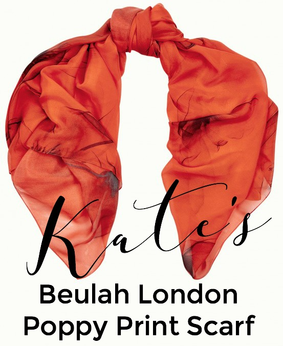 Catherine Duchess of Cambridge Beulah London Scarf Red