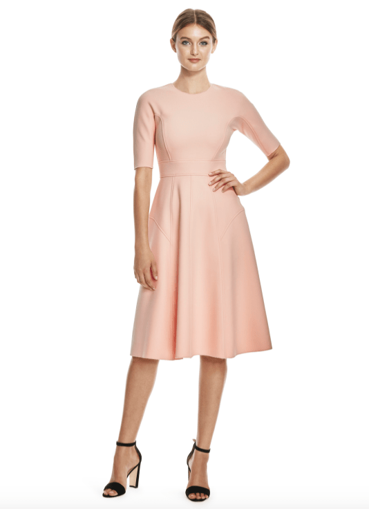 Kate Middleton Lela Rose Blush Pink Dress