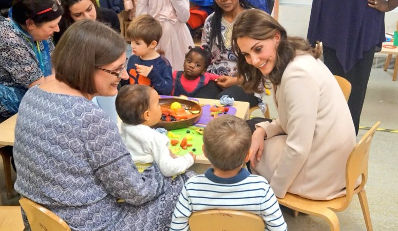 The Duchess of Cambridge visits Hornsey Road Children's Centre