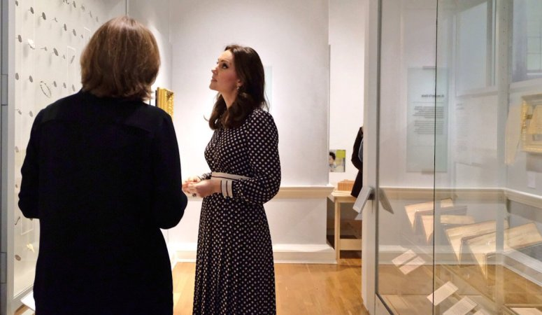 The Duchess of Cambridge visits the Foundling Museum in London