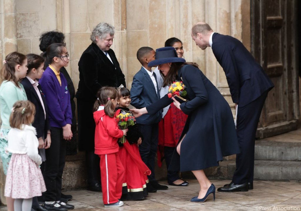 Meghan Markle Kate Middleton Commonwealth Service