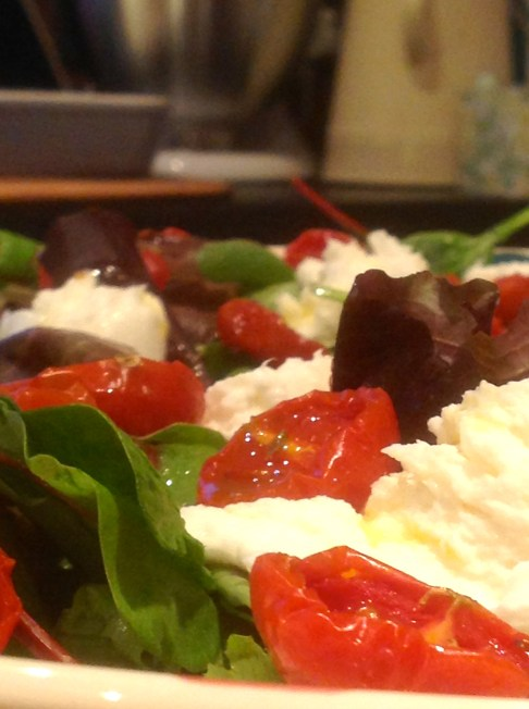 oven dried tomato mozzarella salad