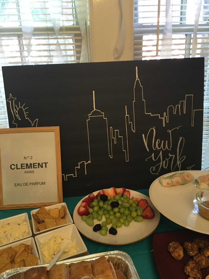 New York City Themed Bridal Shower
