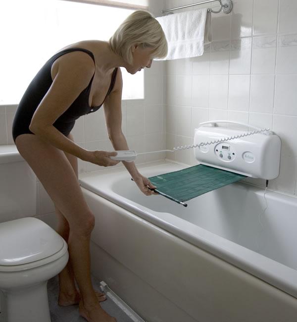 Wheelchair assistance bath lift