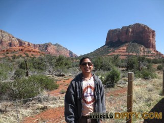 Picture of me with Court House Butte in the background.