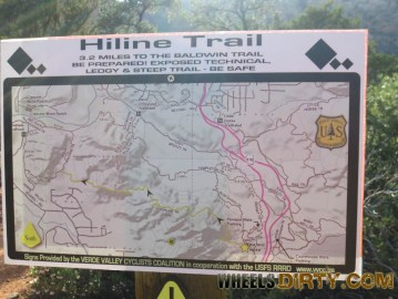 Map of the trails in this area.