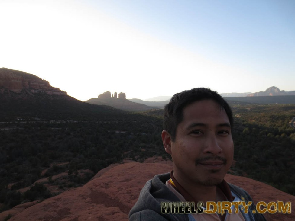 Self shot of me with Cathedral rock in the background.