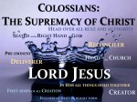 Supremacy Of Christ Colossians