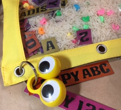 Give Me Glitter…I Spy ABC, 123 Pouch