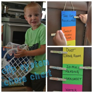 clip system chore chart