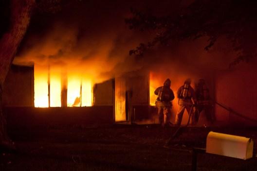 House fire by Ada Bee
