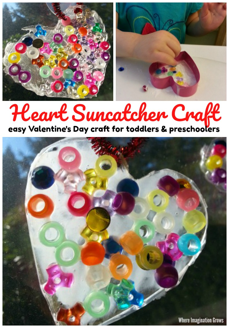 Art And Craft For Preschool Valentine S Day Heart Suncatcher Craft Where Imagination Grows
