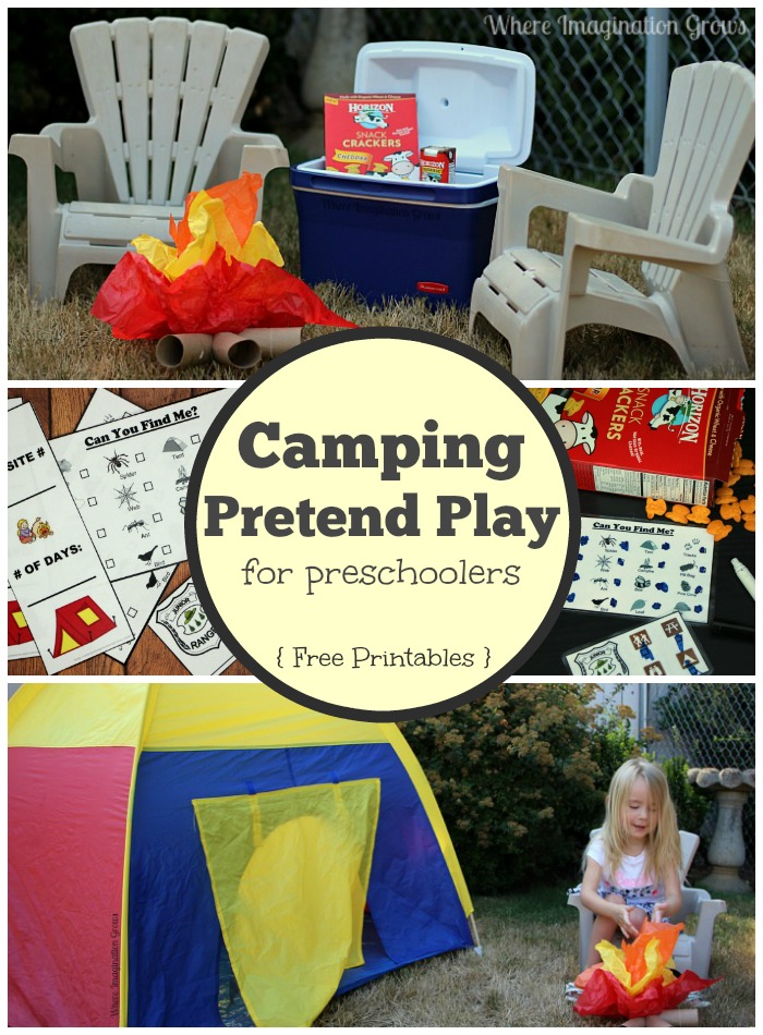 Camping Pretend Play for Preschoolers - Where Imagination Grows