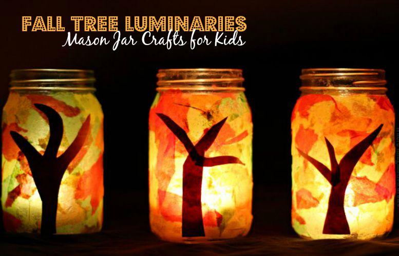 Mason Jar Fall Luminaries Craft Where Imagination Grows