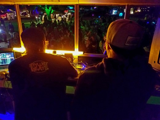 Stylust Beats and Emotionz on Friday night. This deadly duo comes from BC and are one of the staples at the Village at Shambhala every year.
