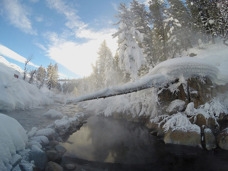 Icy outside, hot inside! The beauty of winter hot springs.