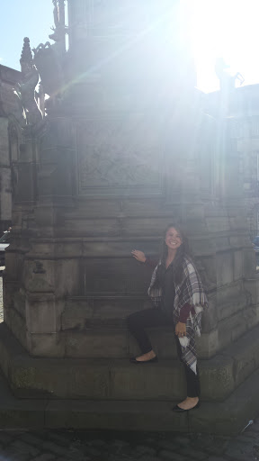 Me standing on Sir Walter Scott monument