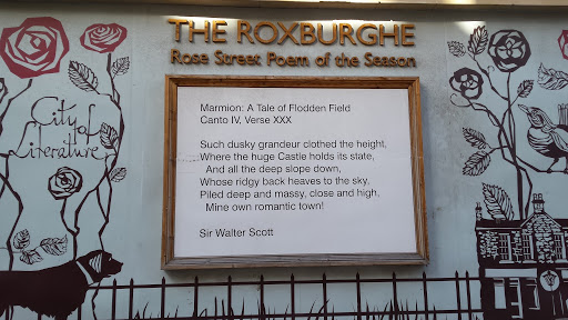 Sir Walter Scott poetry on Rose Street in Edinburgh