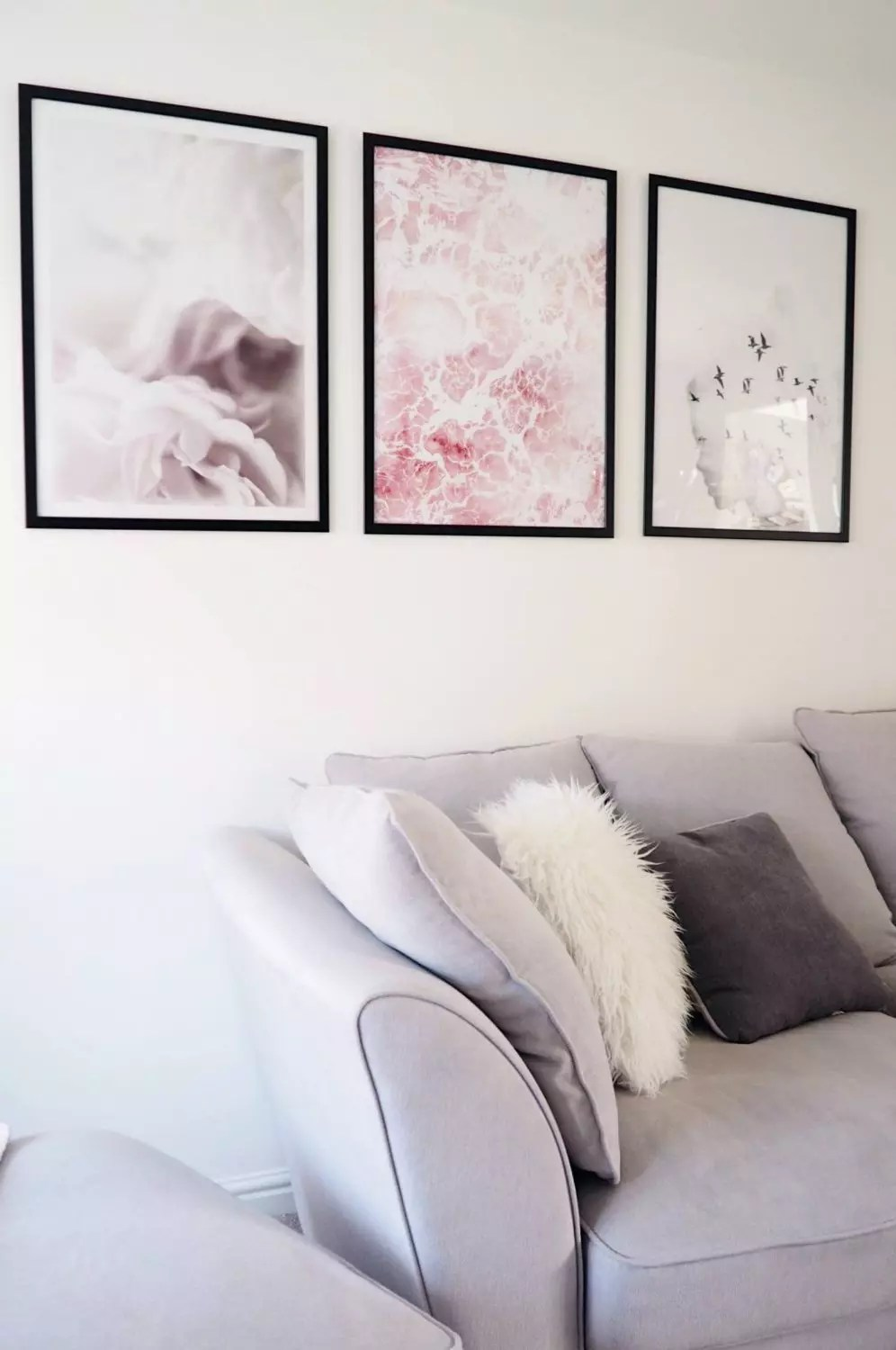 Pink And Grey Living Rooms Grey And White Living Room Interior Design Inspiration