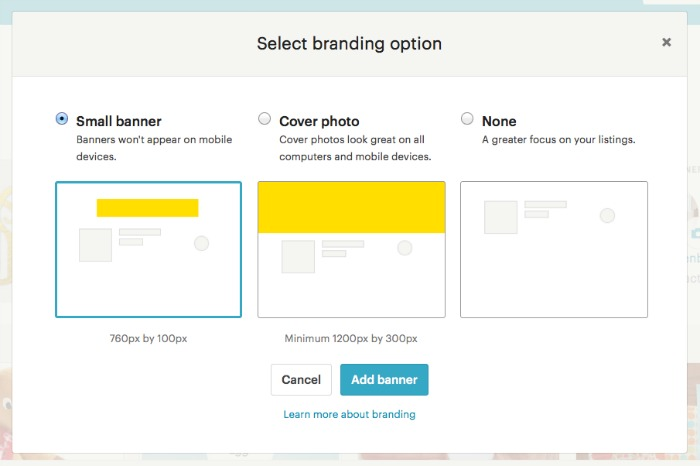Etsy Unveils New Shop Look - whileshenaps - etsy banner template